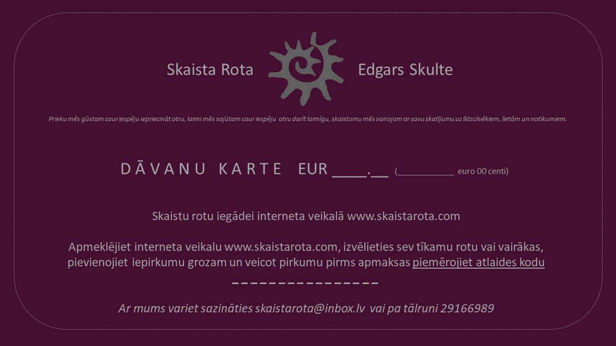 E-dāvanu karte EUR 70.00