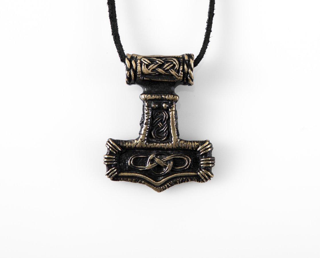 "Vikingu bronzas kulons ""Tora āmurs"" jeb ""Mjolnir"" (mjiol-nair) (liels)"