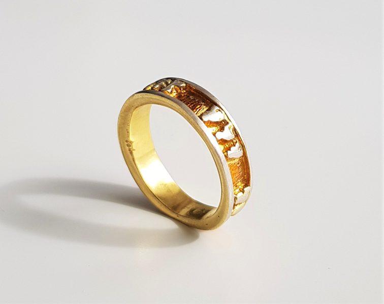 """Apzeltīts sudraba gredzens """"Draugi"""""""