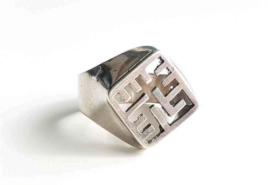 Sudraba gredzens ar Pērkona krustu