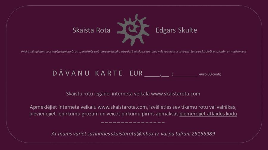E-dāvanu karte EUR 80.00