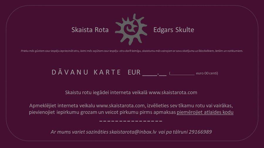 E-dāvanu karte EUR 100.00